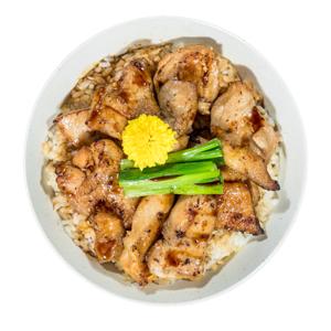 燒雞丼飯的去背退地食物素材相片