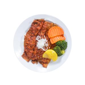 烤超級辣醬片牛肉飯的去背退地食物素材相片