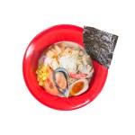 蝦貽貝海鮮拉麵的去背退地食物素材相片