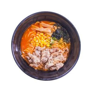 辣椒湯牛肉拉麵的去背退地食物素材相片