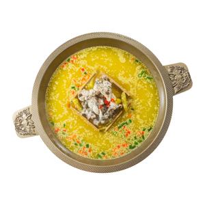 四川麻辣泡椒田雞火鍋湯底的去背退地食物素材相片