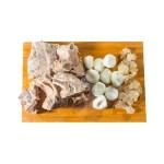 馬蹄排骨原盅燉湯材料的去背退地食物素材相片