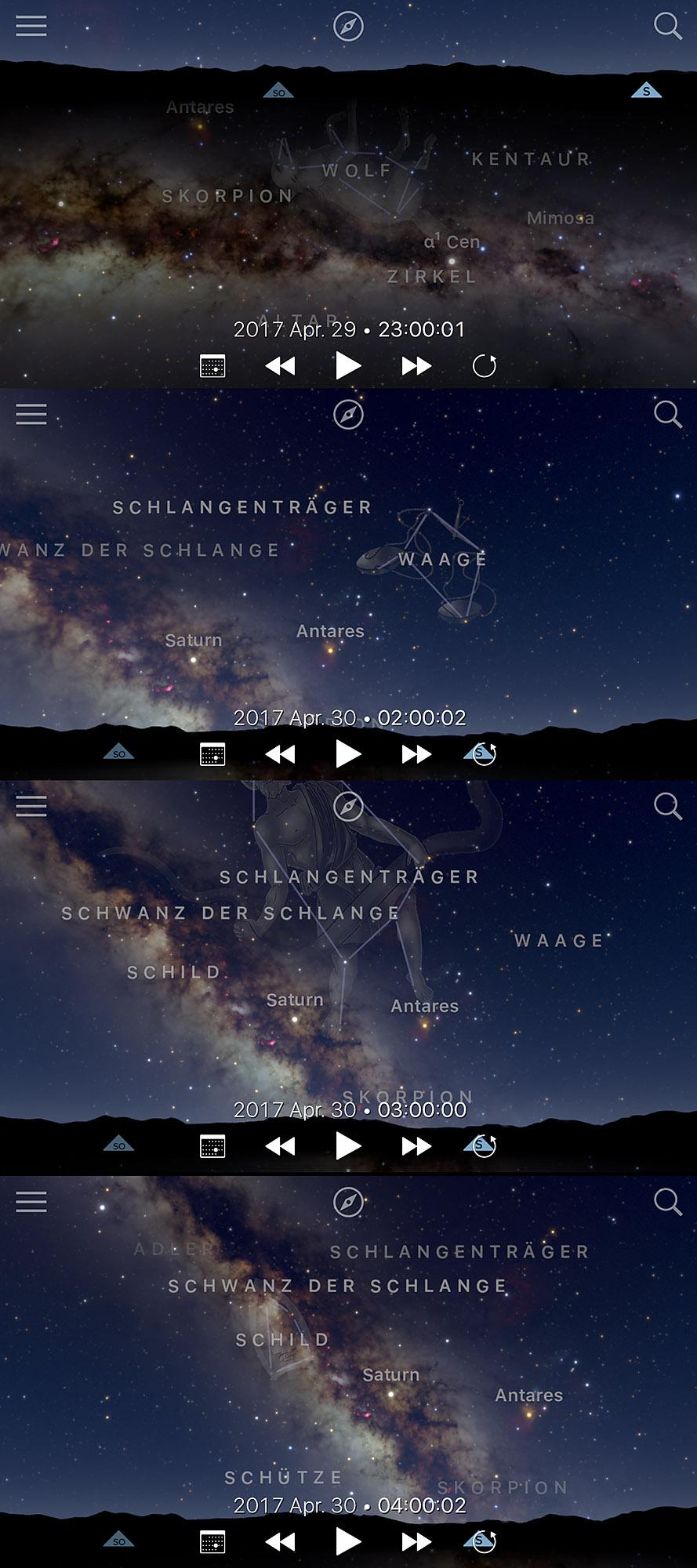 Zentrum der Milchstraße in Deutschland