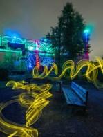 Lightpainting mit Lightblades im Landschaftspark Duisburg Nord