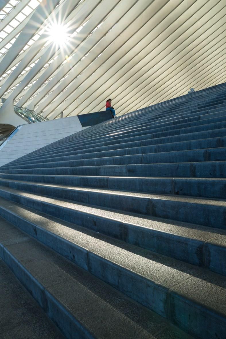Architektur im Bahnhof Liege-Guillemins
