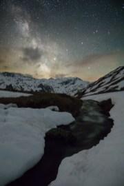 Furkapass Schweizer Alpen Nachts