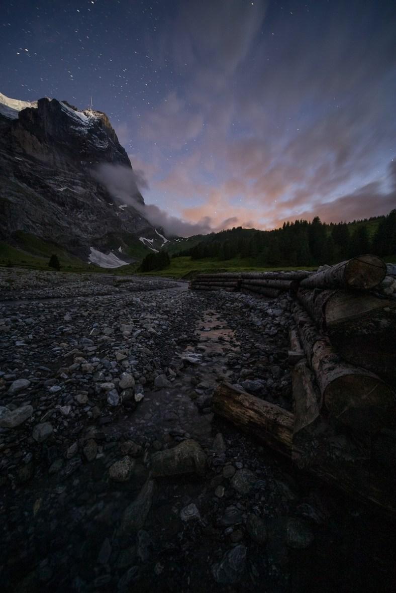 Fotografieren in den Bergen Rosenlaui Wetterhorn