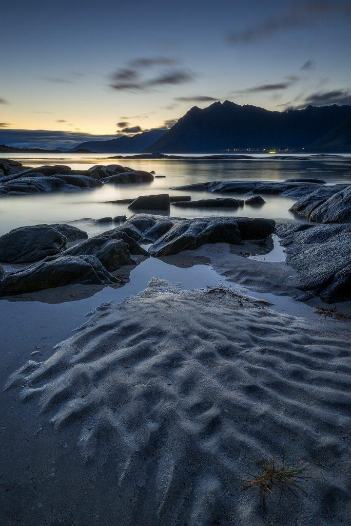 Sandmuster Gimsoy Lofoten Herbst