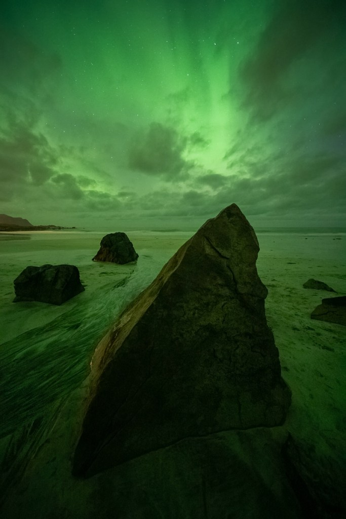 Flakstad Polarlichter Nordlichter Lofoten