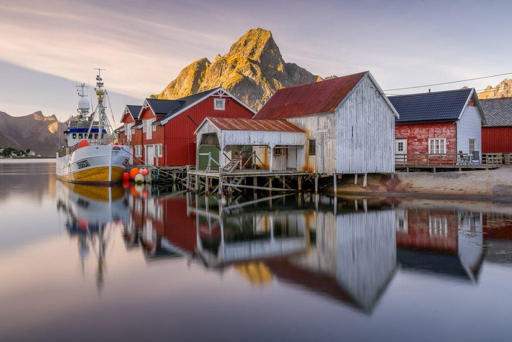 Spiegelung, Reine Lofoten, Norwegen, Fotoreise