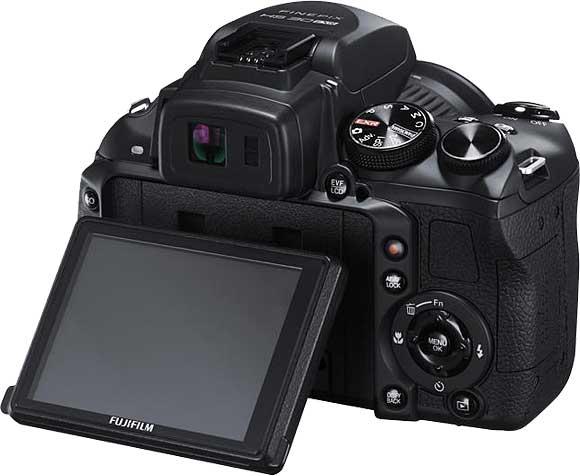Fujifilm FinePix HS30EXR Back View