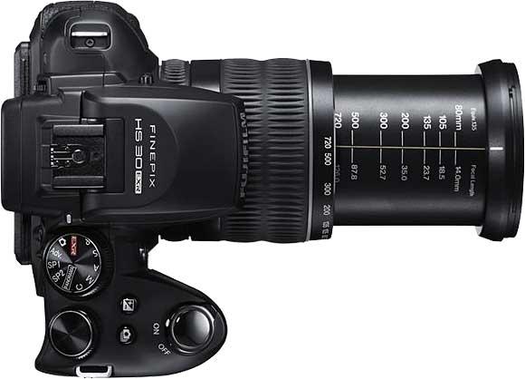 Fujifilm FinePix HS30EXR Top View