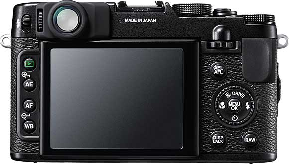 Fujifilm FinePix X10 Back View