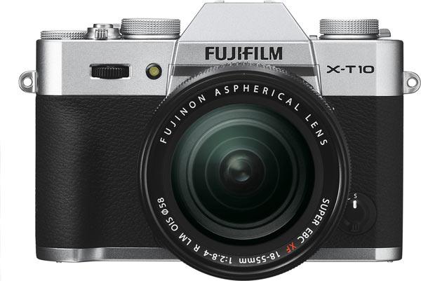 Fujifilm X-T10 in Silver and Black.