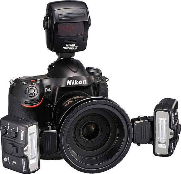 Nikon D4 with optional Close-up Speedlight Commander Kit R1C1