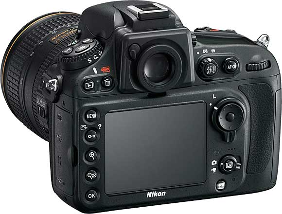 Nikon D800 Back View