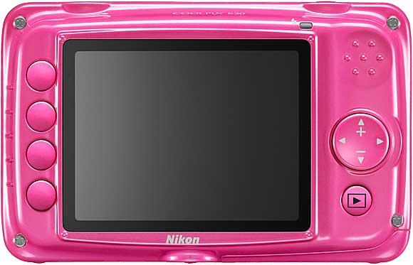 Nikon Coolpix S30 Back View