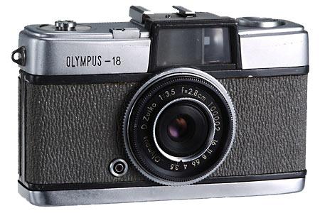 Feb. 1959 - Olympus 18 (Half-frame = 18x24mm) - Prototype of the Olympus Pen