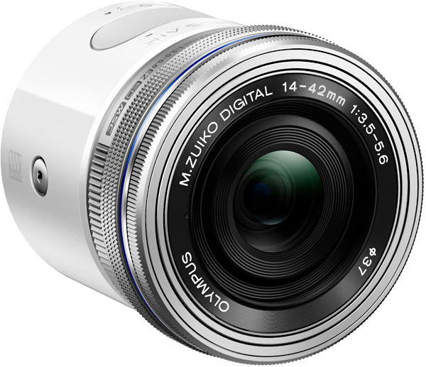 Olympus AIR A01 with 14-42mm EZ lens attached
