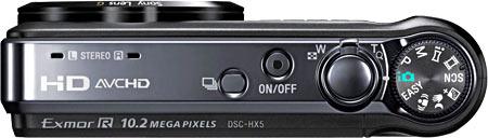 Sony Cyber-shot DSC-HX5V TopView