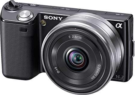 Sony NEX-5 with 16mm pancake lens