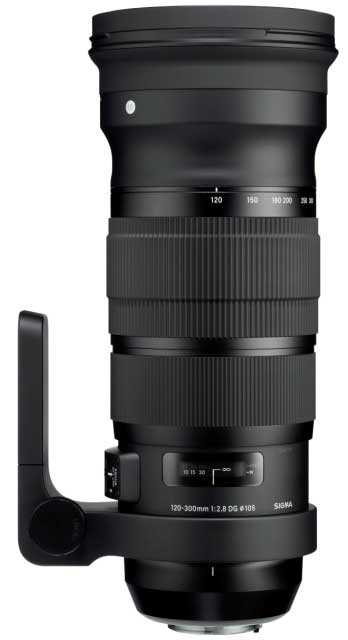 Sigma 120-300mm F2.8 DG OS HSM lens