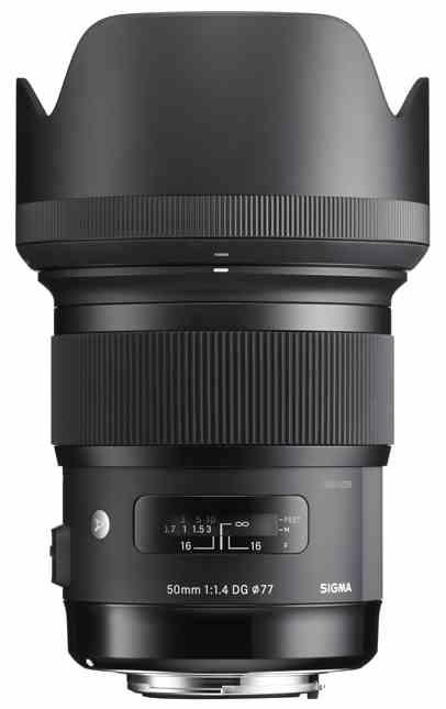 Sigma Art Line: 50mm F1.4 DG HSM Lens with Hood