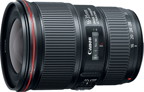 Canon EF 16-35mm f/4L IS USM wide-angle zoom lens