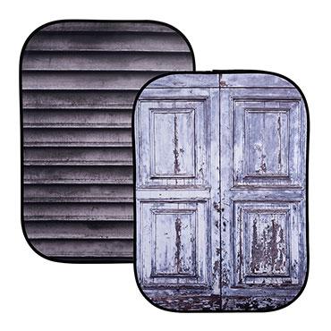 Lastolite's new textures to the Urban Backgrounds: Shutter / Wooden Door