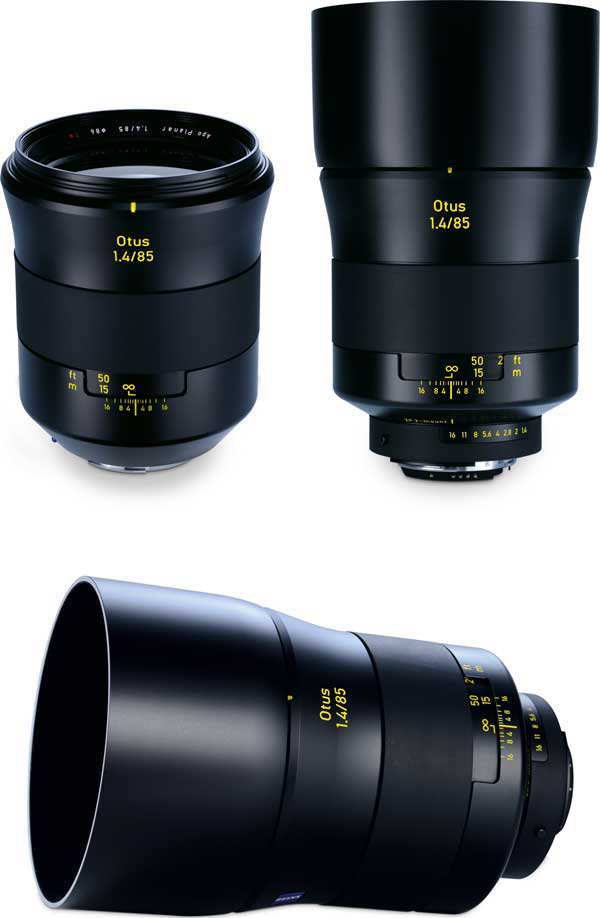 The new ZEISS Otus 1.4/85 with EF- and F-mount.