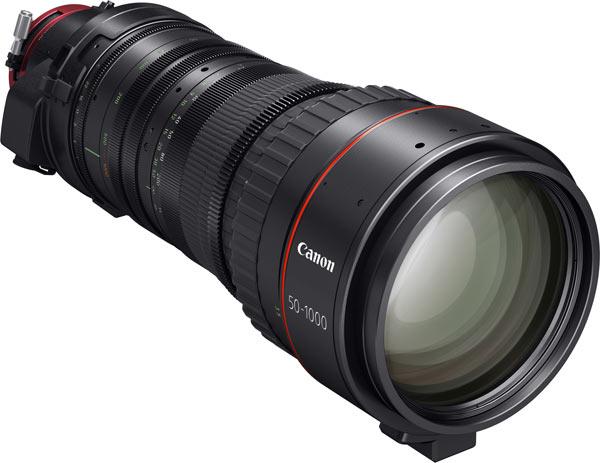 Canon CINE-SERVO 50-1000mm T5.0-8.9 Ultra-Telephoto 4K Zoom lens