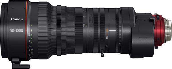 Canon CINE-SERVO 50-1000mm T5.0-8.9 Ultra-Telephoto Zoom Lens in PL mount (CN20x50 IAS H/P1)
