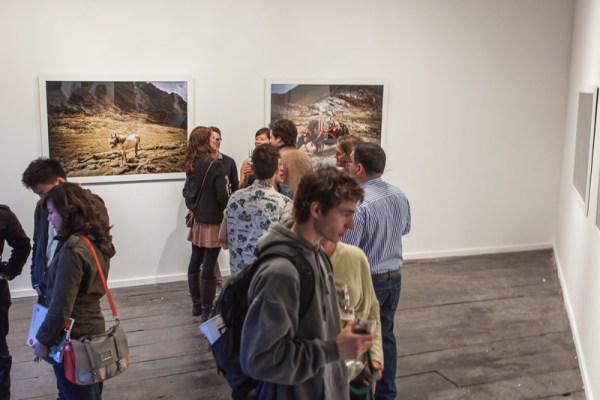 Visitors at an Open Exhibition, 2013. Photo © Hitoshi Murakami
