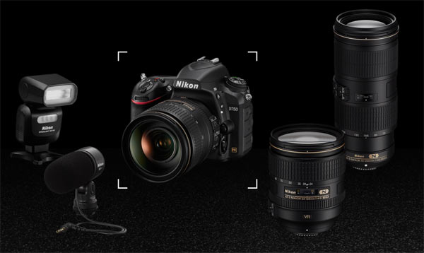 "Nikon D750, the NIKKOR lenses, and other essential gear the participants used in the ""I AM Generation Image"" campaign."