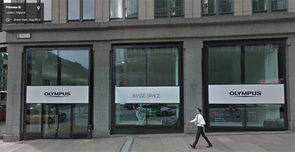 Olympus Image Space London: © 2014 Google