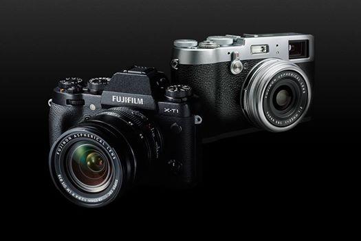 Fujifilm X-T1 (left) and  X100T (right)