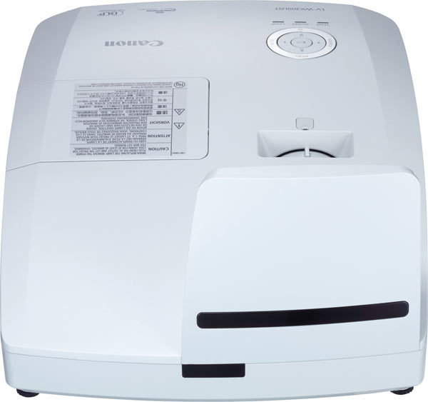 Canon Ultra-short Throw Multimedia Projector LV-WX300UST, back and top