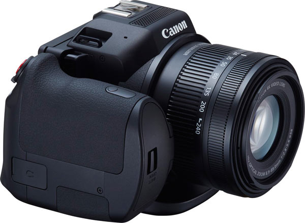 Canon XC10's rotating grip