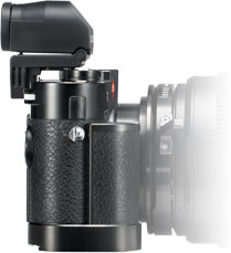 Viewfinder: An articulating electronic viewfinder (Leica EVF-2) allows for more comfortable, traditional operation and composition, and makes it easy to use for low-angle shots.