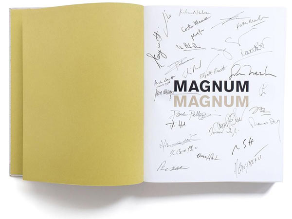 A Magnum photobook with Magnum photographers' signatures: Image by Magnum Photos