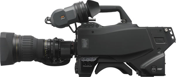 Standard large-format B4-mount lenses mount directly onto the HDC-4300