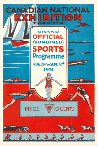 Cover of Sports Programme courtesy CNE Archives, Exhibition Place