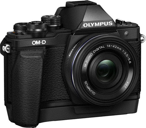Olympus OM-D E-M10 Mark II, black, with M.ZUIKO DIGITAL ED 14-42 f3.5-5.6 EZ and External Grip, ECG-3