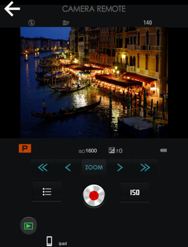 FUJIFILM Camera Remote for ipad: Image Courtesy of Apple