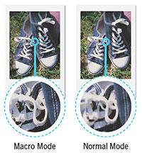 Fujifilm INSTAX Mini 70: Macro mode (left). Images Courtesy of Fujifilm