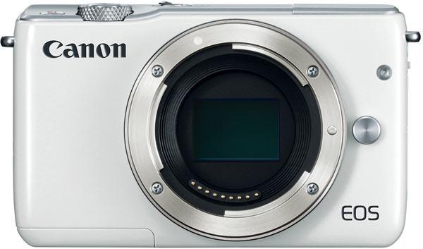 Canon EOS M10, white camera body