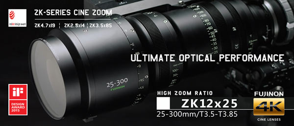 The PL 25-300mm lens is the latest in the company's popular Cabrio series, which includes the Premier PL 19-90mm Cabrio / T2.9(ZK4.7x19), the PL 85-300mm Cabrio / T2.9 -4.0 (ZK3.5x85), and the recently introduced PL 14-35mm Cabrio / T2.9 (ZK2.5x14) lenses.