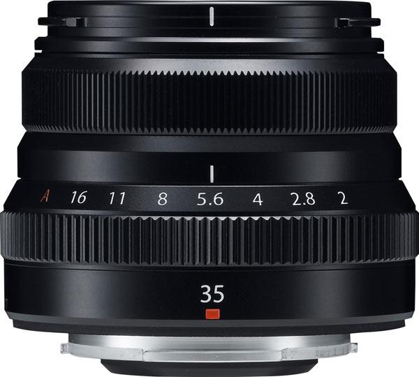 FUJINON XF35mmF2 R WR, black