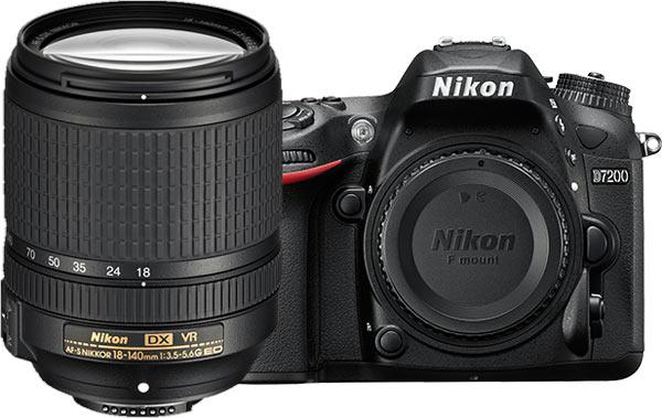 Nikon D7200 (body with AF-S DX NIKKOR 18-140mm f/3.5-5.6G ED VR)