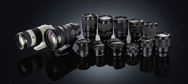 Sony 'FE' Lenses - 35 mm full-frame compatible E-mount lenses: 13 native 'FE' full frame lenses
